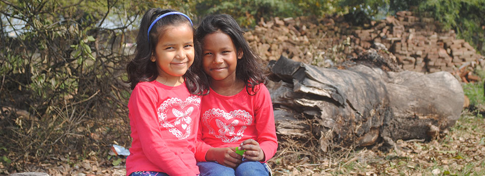 Cynthia and Santoshi, children of our orphanage.