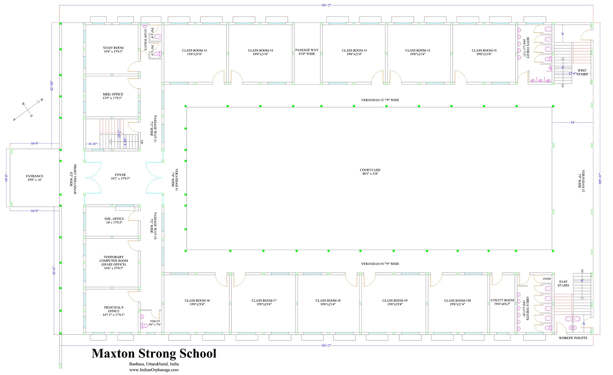 Primary school blueprints indian orphanage primary school blueprints malvernweather Choice Image