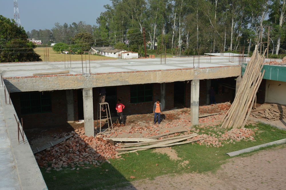 View of the School Extension from the current school roof