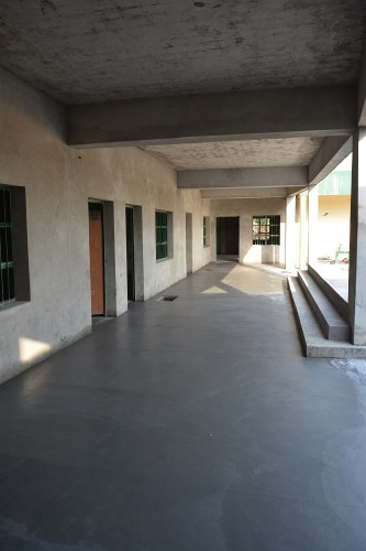 The completed ground floor almost ready for use
