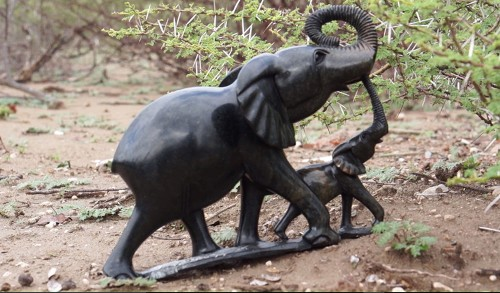 Elephants are being offered without babies. Sandstone, beautiful