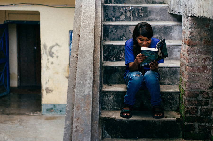 Jessica gets caught reading behind the small girls' hostel.