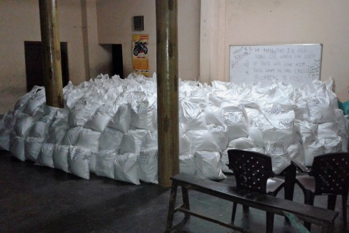 500 packages ready for Nepal