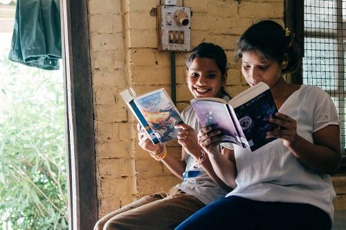 Rosie-an-Ayushi-Reading